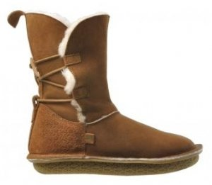 Po-Zu 'Piper' Sheepskin Boots (Ladies - Tan)