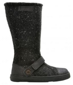 Po-Zu 'Yew' Tweed Boots (Ladies - Black)