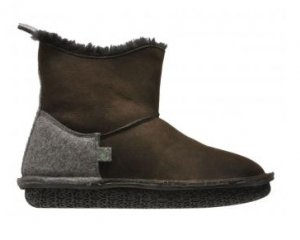 Po-Zu 'Pep' Sheepskin Boots (Ladies - Brown)