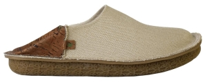 Po-Zu 'Peasy' Organic Hemp & Cork Shoe/Slipper (Mens - Natural/Tan)