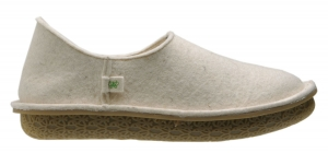 Po-Zu 'Peasy' Wool Felt Shoe/Slipper (Ladies - Off White)