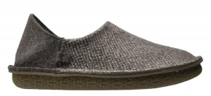 Po-Zu 'Peasy' Shoe/Slipper (Mens - Grey Tweed)
