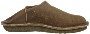 Po-Zu 'Peasy' Leather Shoe/Slipper (Mens - Mocha)