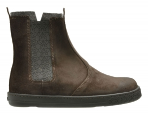 Po-Zu 'Che' Waxed Suede Chelsea Boot (Men's - Brown)