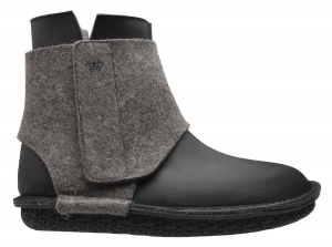 Po-Zu 'Wrap' Boot (Mens - Black/Grey)