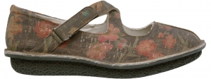 Po-Zu 'Merry' Vegan Cork Shoe (Floral Print)