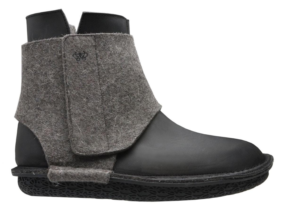 the store po zu wrap boot mens black grey