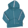 Tatty Bumpkin Bamboo/Cotton Fleece Hooded Sweatshirt (Teal)