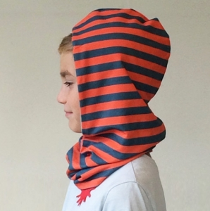f25209367c1 The Natural Store – Red Urchin Snooch Reversible Hooded Snood (Mist  Stripe Opal Blue)