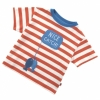 Piccalilly Little Sailor 'Nice Catch' T-Shirt (Tigerlily Stripe)