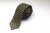 Tammam Peace Silk Houndstooth Tie (Black & Green)
